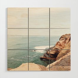 Cliffside Stairs Wood Wall Art