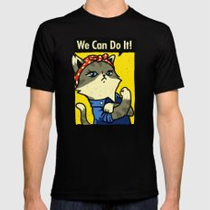 Purrsist! We Can Do It! Mens Fitted Tee Black MEDIUM