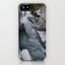 Frozen Waterfalls of Maligne Canyon iPhone Case