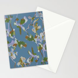 Garden Blue Stationery Cards