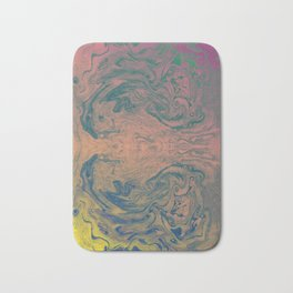 Pink Neon Marble - Earth Gum #nature #planet #marble Bath Mat