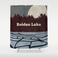 fringe Shower Curtains featuring Reiden Lake (Fringe) by avoid peril