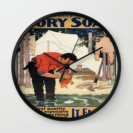 Vintage poster - Soap Wall Clock