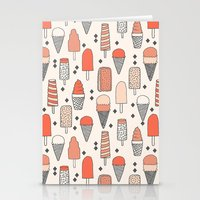 ice Stationery Cards featuring Ice Cream Season by Andrea Lauren Design