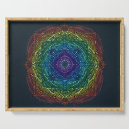 Colorful Chakra Mandala Serving Tray