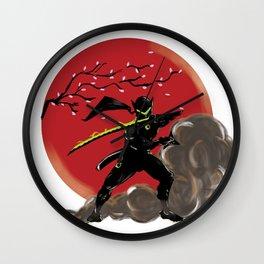 Genji Black Samurai Wall Clock