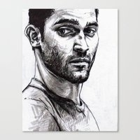 derek hale Canvas Prints featuring TEEN WOLF - Derek Hale by Sara (aka Wisney)