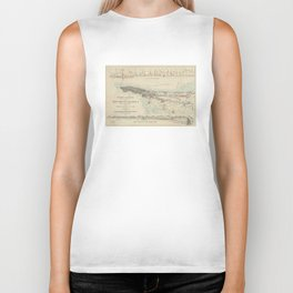 Vintage Map of NYC & The Croton Aqueduct (1899) Biker Tank