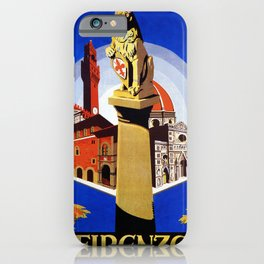 Florence Firenze travel, lion statue iPhone Case