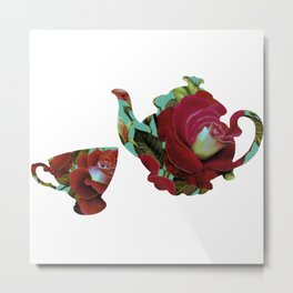 BeauTea Time Metal Print
