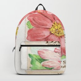 Dahlia Seed Packet Backpack
