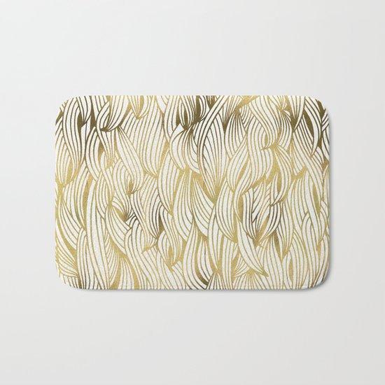 Golden Waves Bath Mat