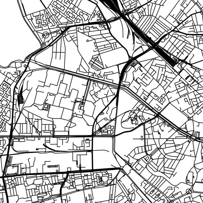 Bucharest White Map Leggings