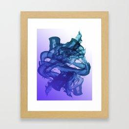 Blue Violet Bends Framed Art Print