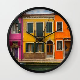 The Streets of Burano Wall Clock