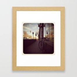 Capital Hill Bike Rides Framed Art Print