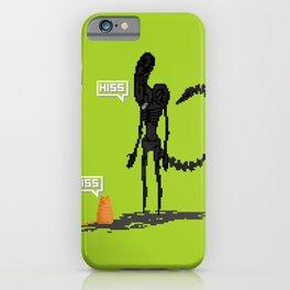 Alien vs Jonesy iPhone Case