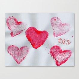 LOVE-ly Hearts Canvas Print