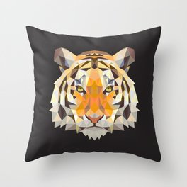 PolyTiger Throw Pillow
