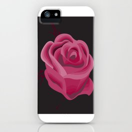 Pink Hue Single Rose iPhone Case