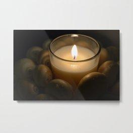 Candle Light Metal Print