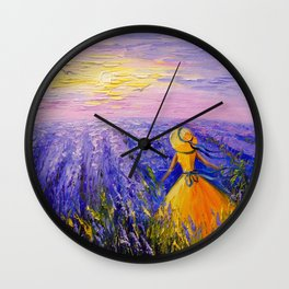 Lavender dreams  Wall Clock