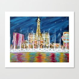 Miss You Las Vegas. Painting. Inspirations Collection Canvas Print