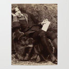 Oscar Wilde Lounging Portrait Poster