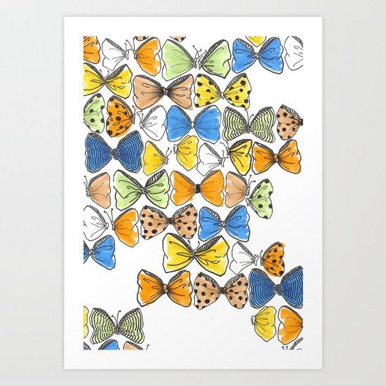 More Bows & Butterflies Art Print