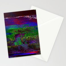 66-84-01 (Earth Night Glitch) Stationery Cards