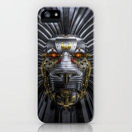 Hear Me Roar / 3D render of serious metallic robot lion iPhone Case