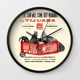 Cockfight! Wall Clock