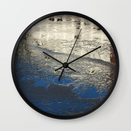 The frozen canal Wall Clock