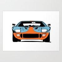 GT40 - Gulf Livery Art Print