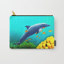 Dolphin in Water Carry-All Pouch