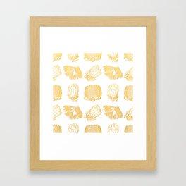 Golden Australian Native Florals Framed Art Print