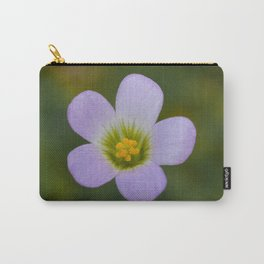 lilac oxalis close up Carry-All Pouch