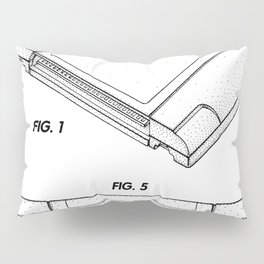 Nintendo N64 Patent - N64 Cartridge Art - Black And White Pillow Sham