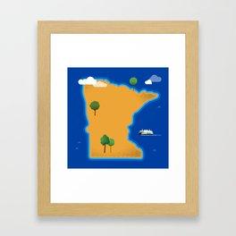 Minnesota Island Framed Art Print