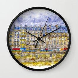 Rainy Paris Wall Clock