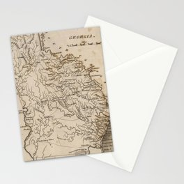 Vintage Map of Georgia (1816) Stationery Cards