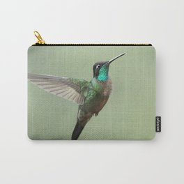 Male Magnificent Hummingbird in flight, in the Costa Rican rain Carry-All Pouch