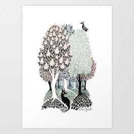 Garden Trees Art Print
