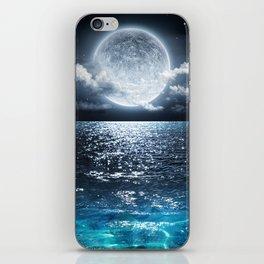 Full Moon over Ocean iPhone Skin