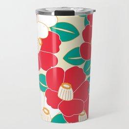 Shades of Tsubaki - Red & White Travel Mug
