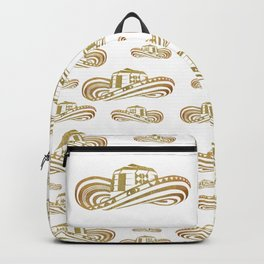 Colombian Sombrero Vueltiao in Gold Leaf Style Backpack