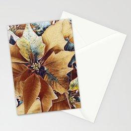 Autumn Poinsettia Stationery Cards