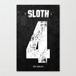 7 Deadly sins - Sloth Canvas Print