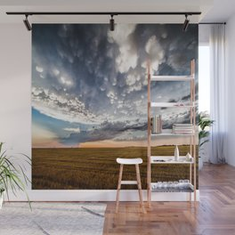 After the Storm - Spacious Sky Over Field in West Texas Wall Mural