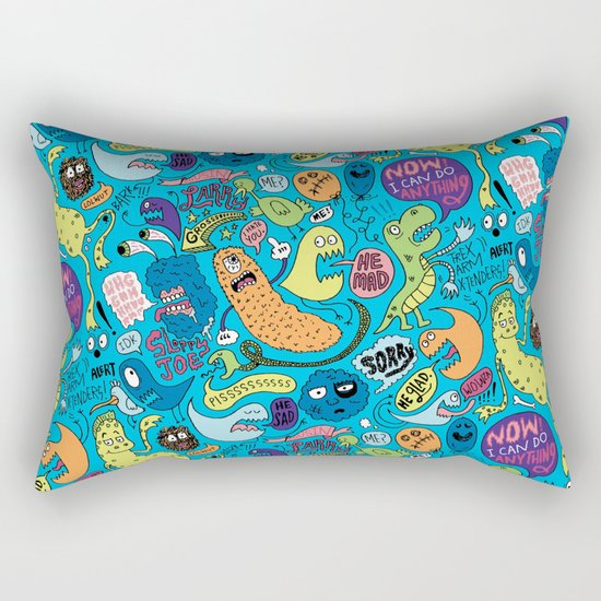 Gettin' Loose Pattern Rectangular Pillow